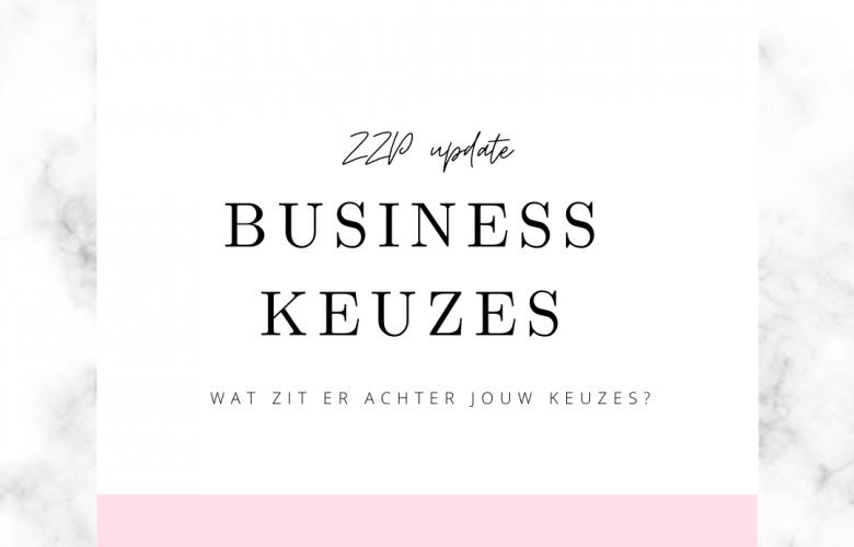 zzp update business keuze